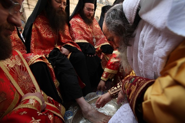 Foot washing in Jerusalem