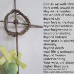 The Spiritual Practice of Holy Week