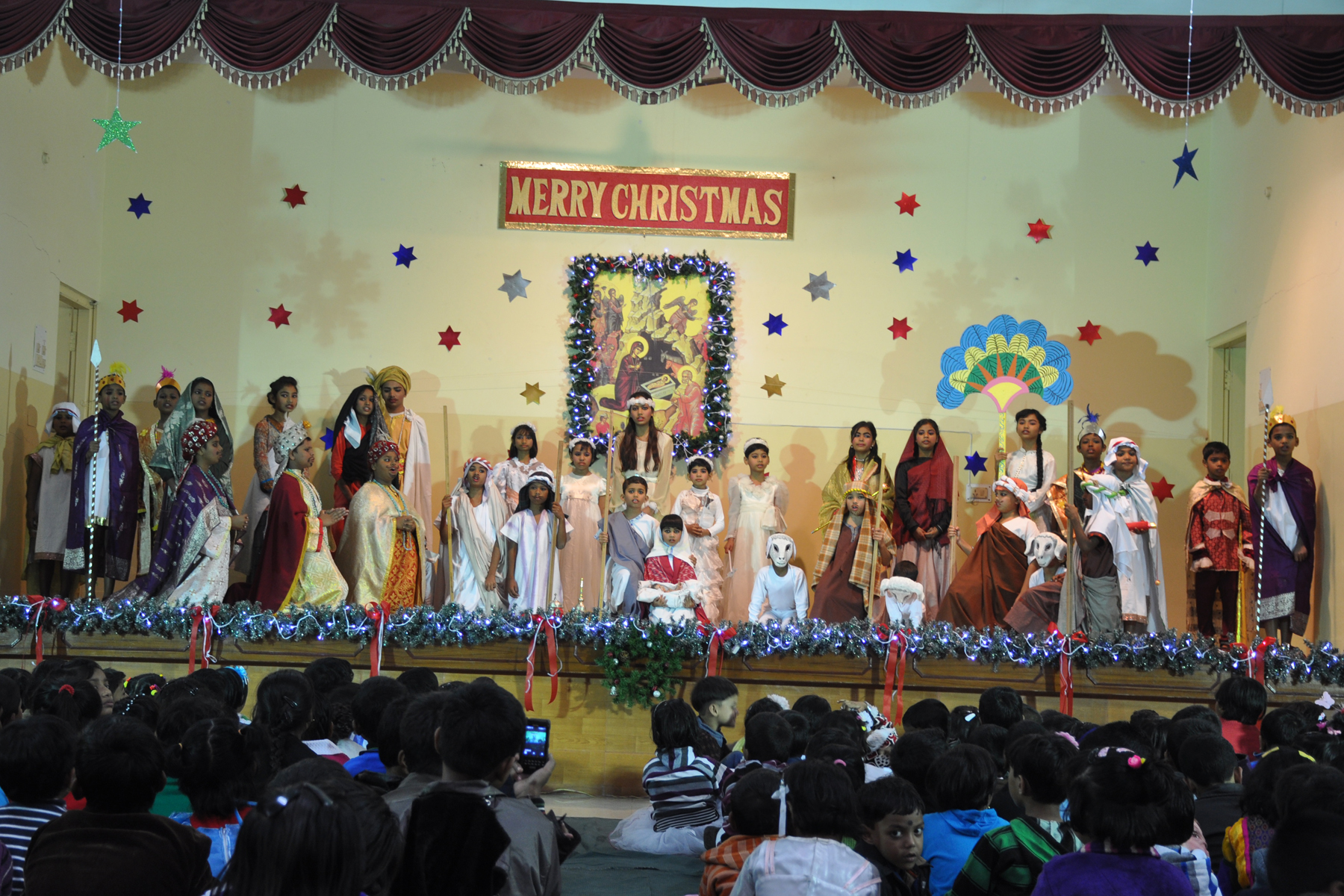 St. Ignatius High School, Kolkata, India Christmas Celebration 2014