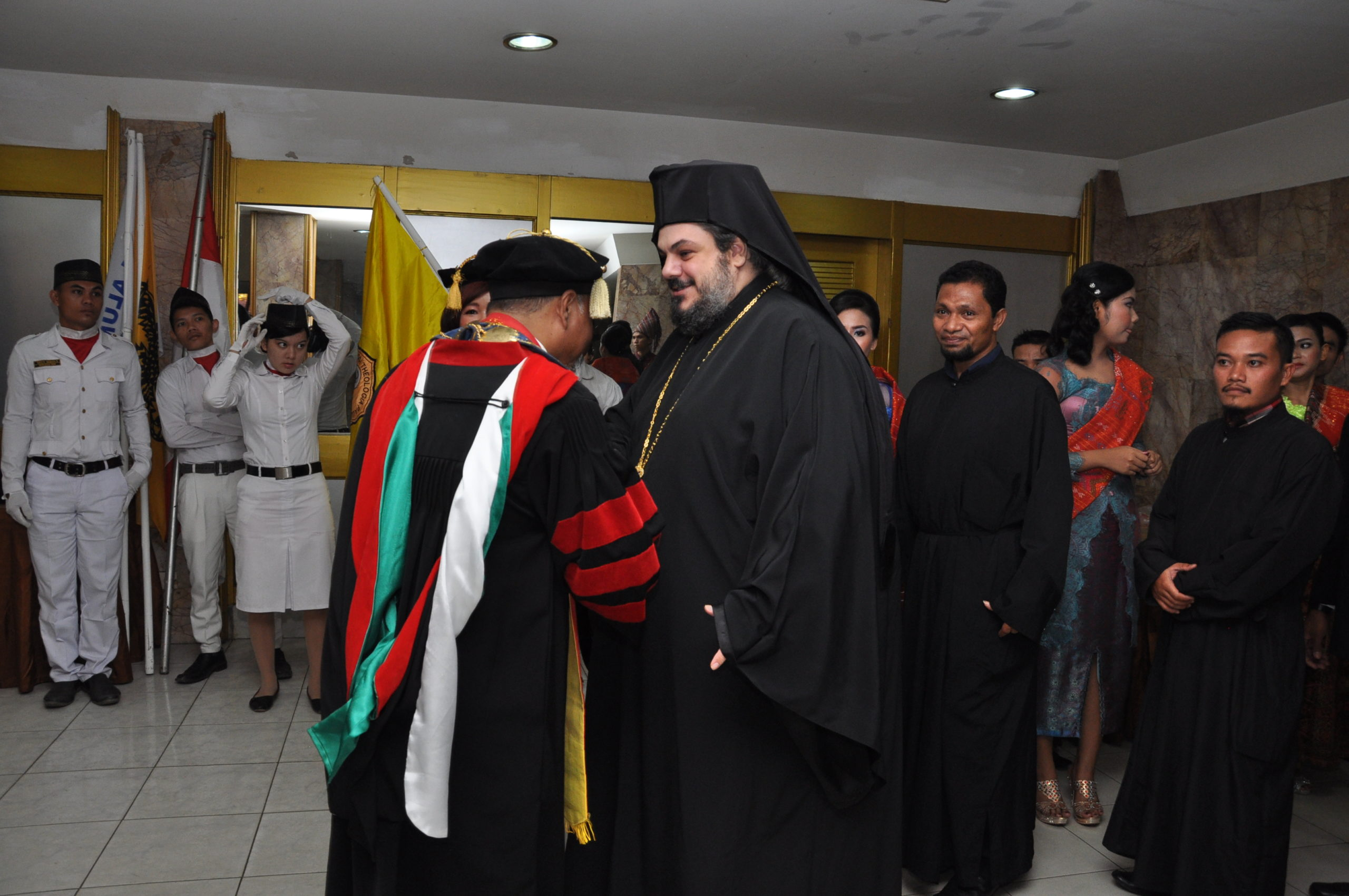 "Graduation ceremony for the students of ""St. Paul Theological School"" Medan, Sumatra,Indonesia"