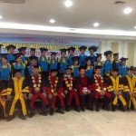"Graduation ceremony for the students of ""Management Informatics Computers Academy Universal"" Medan, Sumatra,Indonesia"