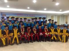 "Graduation ceremony for the students of ""Management Informatics Computers Academy Universal"" Medan, Sumatra,Indonesia"