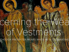 Concerning the wearing of Vestments